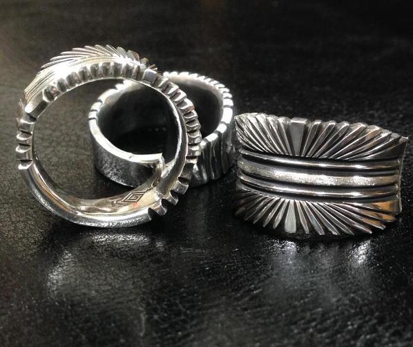spiral snake シルバーリング スタンプワーク